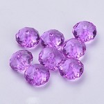 22mm Lilac Faceted Acrylic Pillow - (5 Beads)
