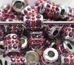 14mm Blingy Red Drum Crystal - (2 Beads)