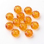 14mm Gold Faceted Rondell - (5 Beads)  - SORRY OUT OF STOCK