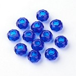14mm Royal Blue Faceted Rondell - (5 Beads)