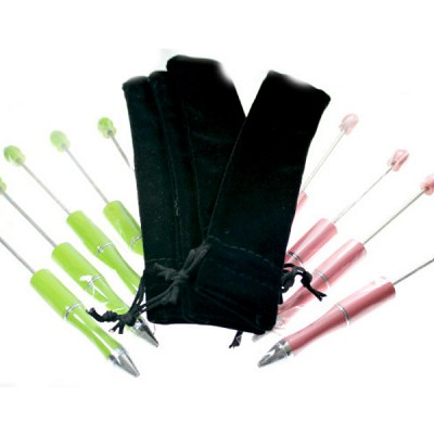 10 Pens/10 Pouches (5 Lime/5 Light Pink)