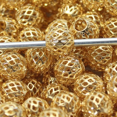 10mm Gold Weave  - (5 Beads)