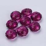 22mm Purple Acrylic Pillow - (5 Beads)