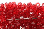 14mm Acrylic Red Twist  - (10 Beads)