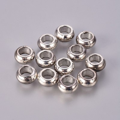 10mm silver metal spacers - (10 Beads)
