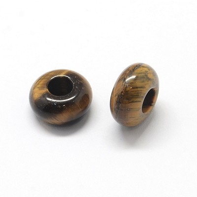 13mm Natural Tiger Eye European(3 Beads)