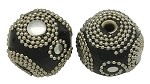 25mm Black Beaded Rounds - (3 Beads)  - SORRY SOLD OUT