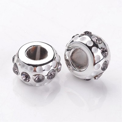 16mm Grey Crystal Rondell - (3 Beads)