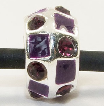 12mm Purple Crystals - (3 Beads)