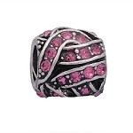 Criss Cross Crystal Hot Pink - (3 Beads)