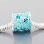 Turquoise Crystal Barrel  - (3 Beads)