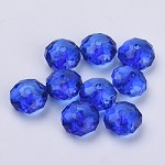 22mm Dark Blue Acrylic Pillow - (5 Beads)