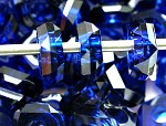 14mm Midnight Blue Faceted Rondell - (4 Beads) - SORRY OUT OF STOCK