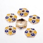 13mm Gold-Plated Bead Cap - (4 Pieces)