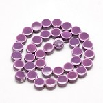15mm Purple Ceramic Buttons (5 Beads)
