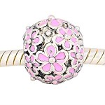 12mm Pink Flower - (3 Beads)