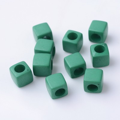 7mm Green Acrylic- (10 Beads)