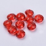 22mm Red Acrylic Pillow - (5 Beads)
