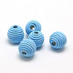 14mm Polymer Clay  Dodger Blue - (3 Beads)