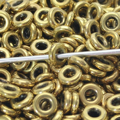 10mm  Metalized Plastic Goldish Ring - (20 Beads)