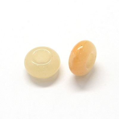 13mm Natural Topaz Jade - (3 Beads)