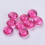 22mm Hot Pink Acrylic Pillow - (5 Beads)