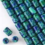 10mm x 14mm Azurite Barrel - (1 strand)