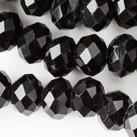 8mm  Black RoundCrystals - (1 Strand) - SORRY OUT OF STOCK