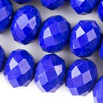 10mm x 8mm  Cobalt Opque Crystals - (1 Strand)