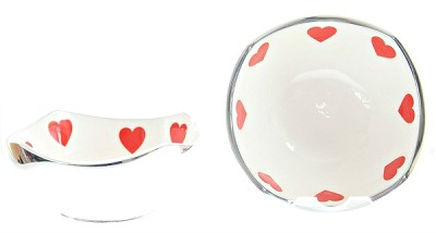 "4"" Red Valentine Bowl - (1 Bowl) - DISCONTINUED"