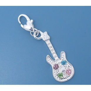 Crystal Guitar - (2 Charms)
