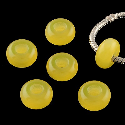 Yellow Pearl Cat's Eye - (5 Beads)