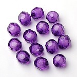 20mm Purple Faceted Acrylic  - (5 Beads)