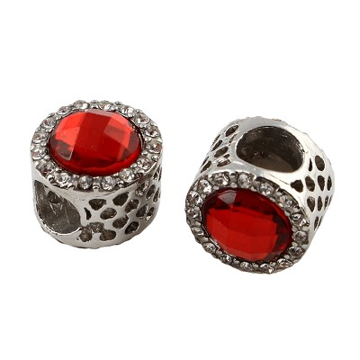 12mm Red Crystal  - (2 Beads)