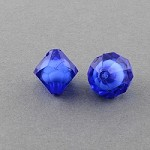 7mm Blue Acrylic Diamonds - (6 Beads)