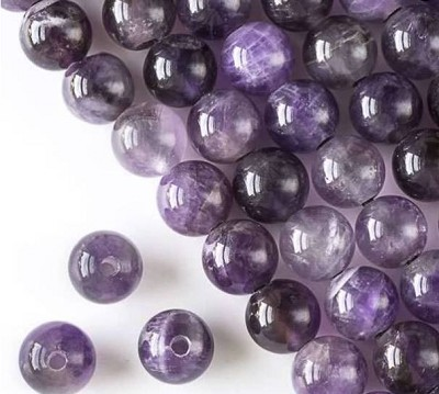 12mm Large Smooth Amethyst Rounds - (1 Strand)