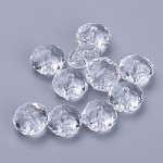 22mm Clear Faceted Acrylic Pillow - (5 Beads)