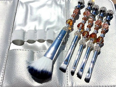 Beaded Swarovski Crystal Make-Up Brushes