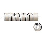 35mm White/Black Tube - (3 Beads)