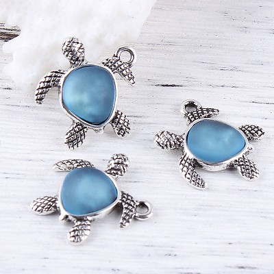 Blue Turtle  Charm - (3 Charms)