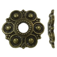 13mm Bronze Flower Bead Cap - (2 Pieces)