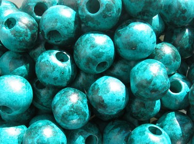 20mm Ceramic Malachite Round