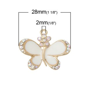 Butterfly Crystal Charm - (2 Charms)