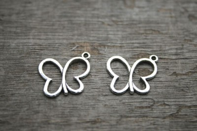 17mm Butterfly Charm - (3 Charms)