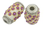 32mm Exotic Purple Dots - (1 Bead)- SORRY OUT OF STOCK