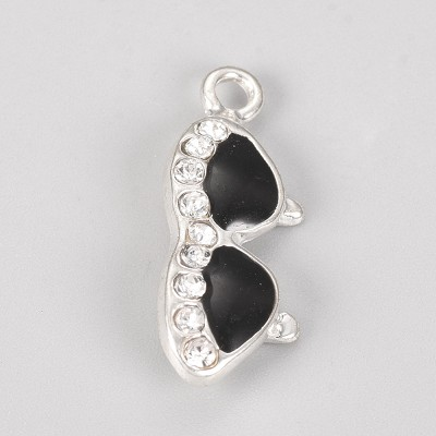 Silver Crystal Sunglasses  - (5 Charms)