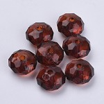 22mm Root Beer Faceted Acrylic Pillow - (5 Beads)