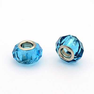13mm Faceted Sky Blue - (10 Beads)