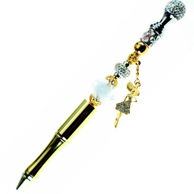 Gold Crystal Diva Beadkit & Pen