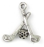 Golf Clubs Charm - (3 Charms)